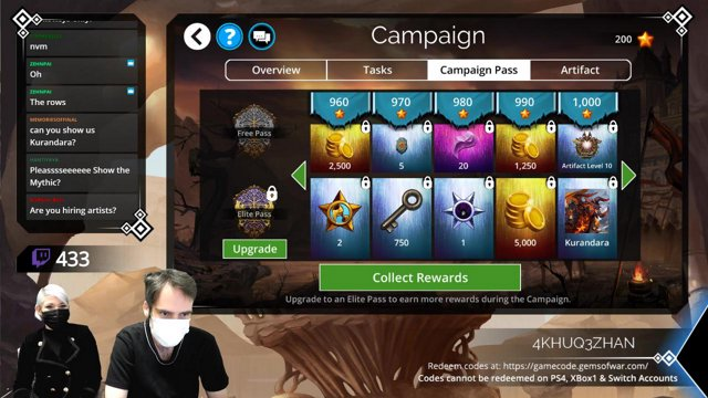 Gems of War Developer Stream infinityplustwo on Twitch
