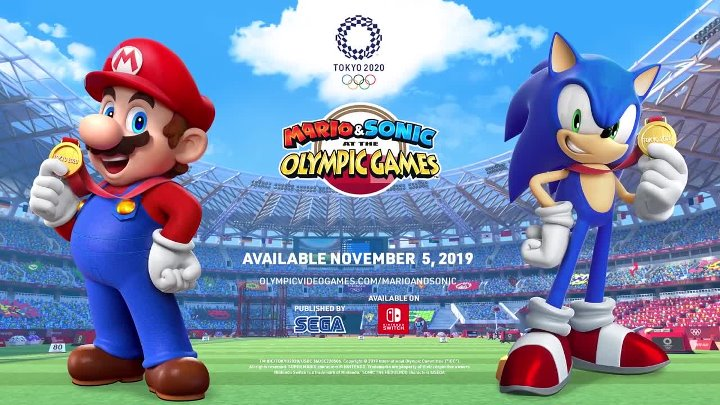 Марио и Соник на Олимпийских играх в Токио 2020 - трейлер серии «Классические 2D-события»