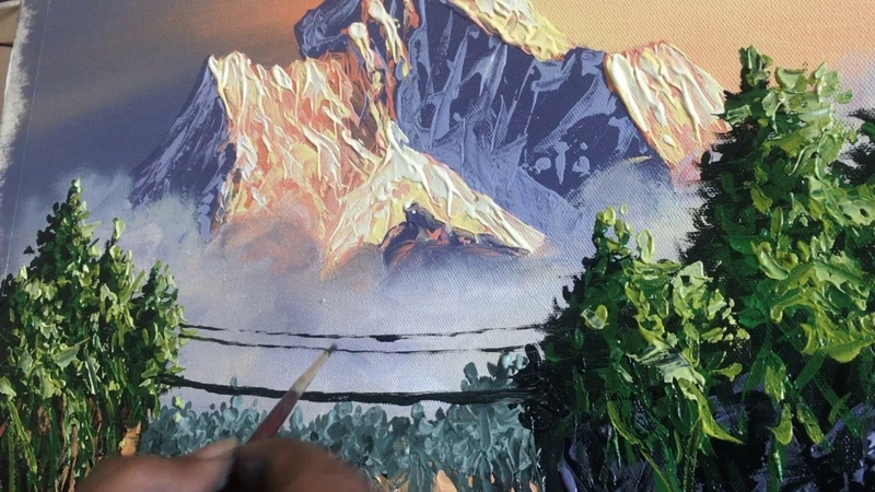 Painting Demo | Landscape Painting| Nature painting | Scenery Painting | Acrylic Painting| Art Candy