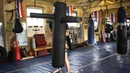 Punch Back Punch Bag at the Wicker Camp Thai Boxing Gym Sheffield UK