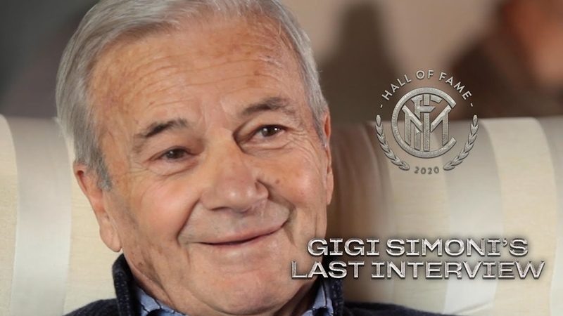 GIGI SIMONI'S LAST INTERVIEW with INTER TV INTER HALL OF FAME 2020 🙏🏻🖤💙 SUB ENG