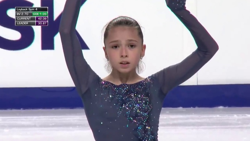 Камила Валиева, короткая программа, ЮГП в Челябинске 2019 Kamila Valieva Chelyabinsk SP