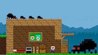 Minecraft 2D - Нубик потерял Профессионала adventure of noob 2D Games