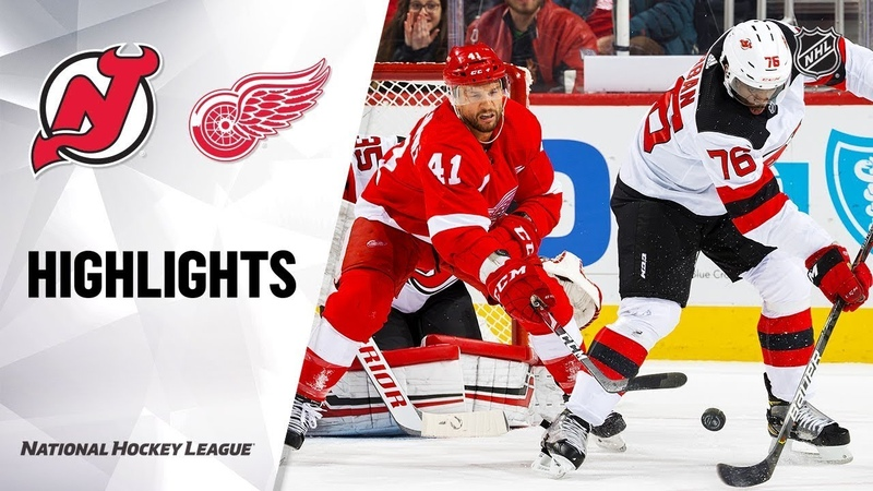 New Jersey Devils vs Detroit Red Wings Feb 25 2020 Game Highlights NHL 2019 20 Обзор матча
