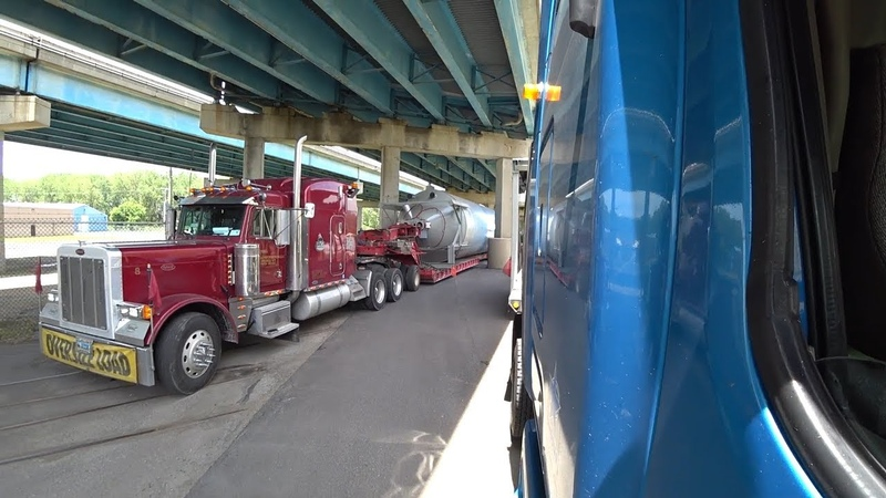 Застрял под мостом Негабаритные перевозки по США
