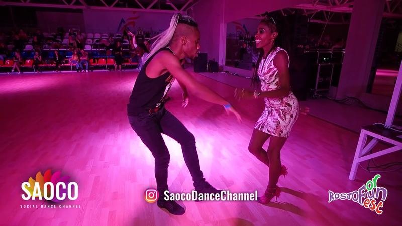 Daniel Torriente and Annelys Perez Castillo Salsa Dancing at Rostov For Fun Fest 2018 Sun 04 11 18