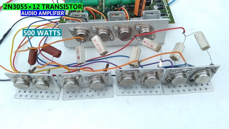 2N3055×12 transistor 500 watts audio amplifier Part 1. Technical Mriganka