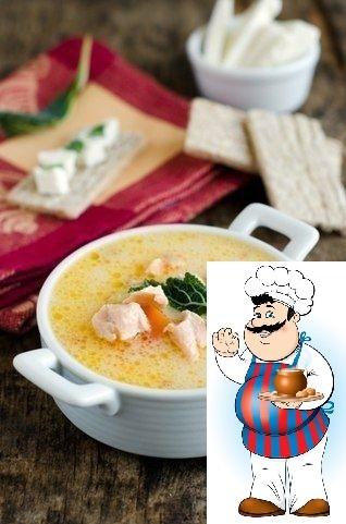 Сырный рыбный суп. Суп очень и очень вкусный! Вам потребуется: Лук репчатый 1 шт Перец черный (молотый, по вкусу) Соль (по вкусу) Вода 1 л Масло оливковое 10 мл Укроп 1 пуч. Картофель 3 шт Орехи