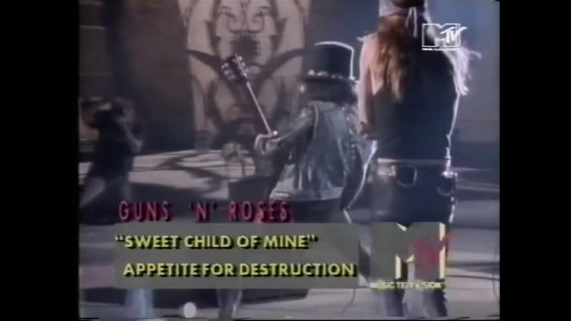 Guns N' Roses Sweet Child O' Mine MTV Europe 1993