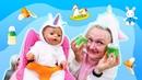 Фруктовое пюре для куклы беби бон. Видео для девочек.