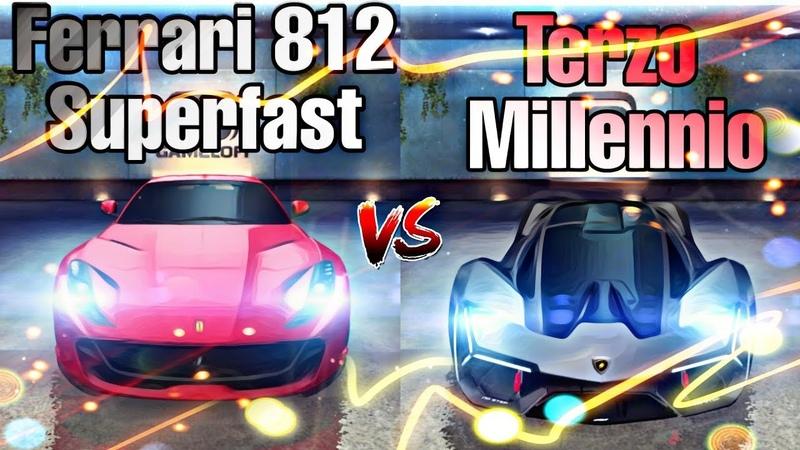 Asphalt 8 - Ferrari 812 Superfast vs Lamborghini Terzo Millennio | Alps | Comparison