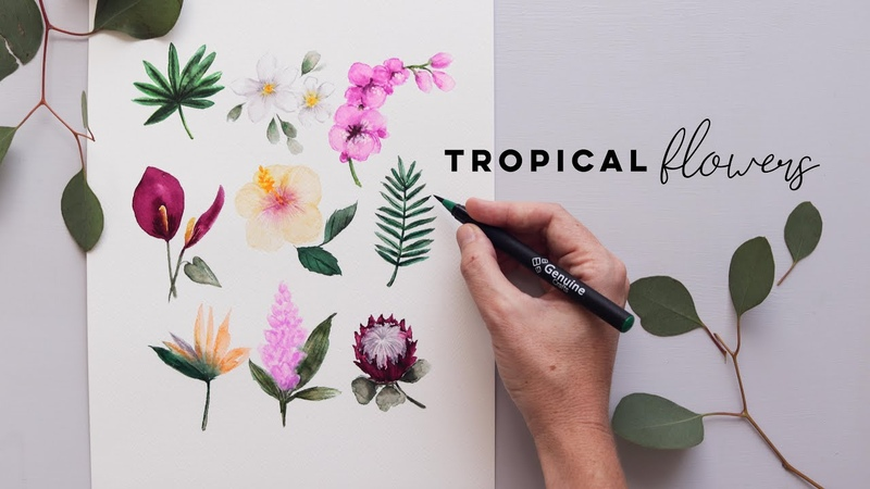 Every Watercolor Flower You'll Ever Need Tropical Edition