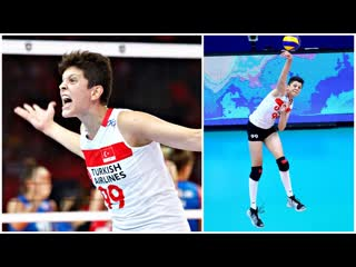 Ebrar karakurt 19 years old amazing volleyball player (hd)