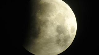 Lunar eclipse 21.01.2019 Beginning Nikon p900