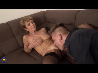 Romana (68) granny romana loves dating younger men... and then some! [2020, old & young, shaved, 1080p]