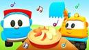 Um bolo de maçã Cante com Léo o caminhão Desenho animado para crianças