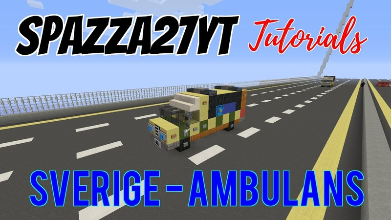 Minecraft Mercedes 318 CDI Swedish ambulance Ambulans tutorial