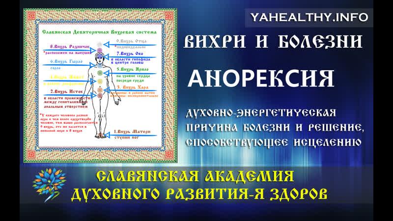Aнopeкcия | Чакры и болезни | Энергетика славян