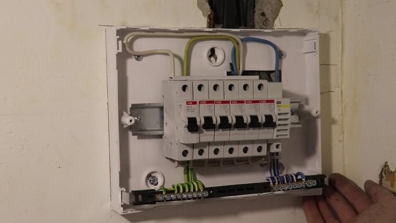 Сборка щита на семь модулей