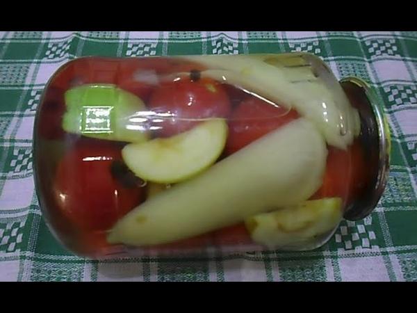 Маринованные помидоры на зиму без уксуса и стерилизации Простой рецепт с яблоками