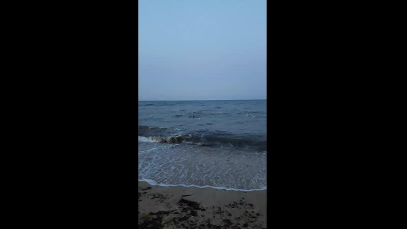 Ночной шторм. август 2019 Крым