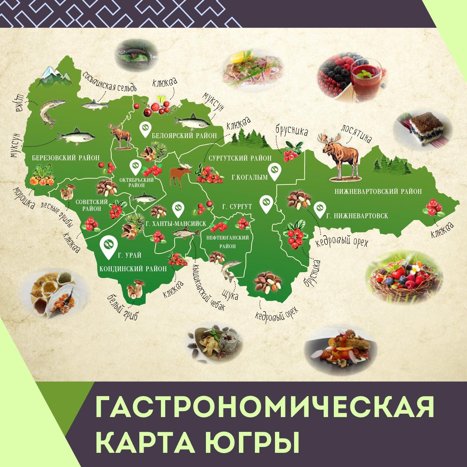 Гастрономическая карта Югры