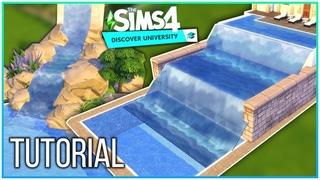 Sims 4 Tutorial - Waterfalls w/ Discover University [No CC, No Mods] | Kate Emerald