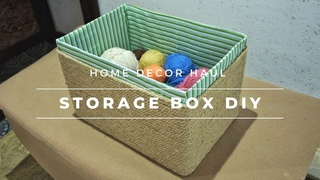 Storage box DIY  How to make a storage box  DIY rope basket