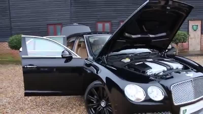 Bentley Flying Spur 6 0 W12 in Beluga Black with Saffron and Beluga Interior
