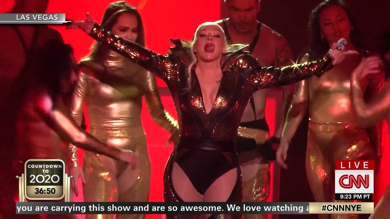 HD Christina Aguilera Dirrty Live at CNN New Year's Eve 2020