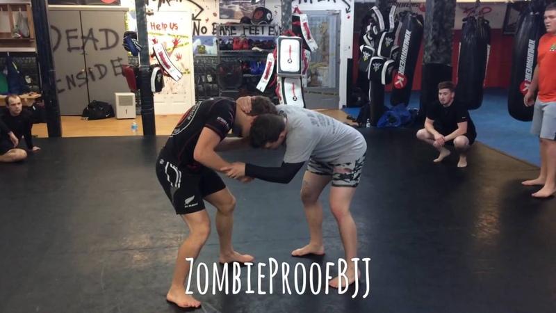 How To Do The Imanari Roll From Tie Up Snap Down ZombieProofBJJ NoGi смотреть онлайн без регистрации