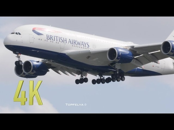 Heathrow Airport in 4K Early Morning heavy arrivals