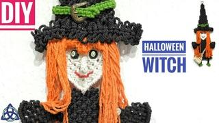 DIY Macrame  Wall Hanging Witch - Halloween Room Decor DIY
