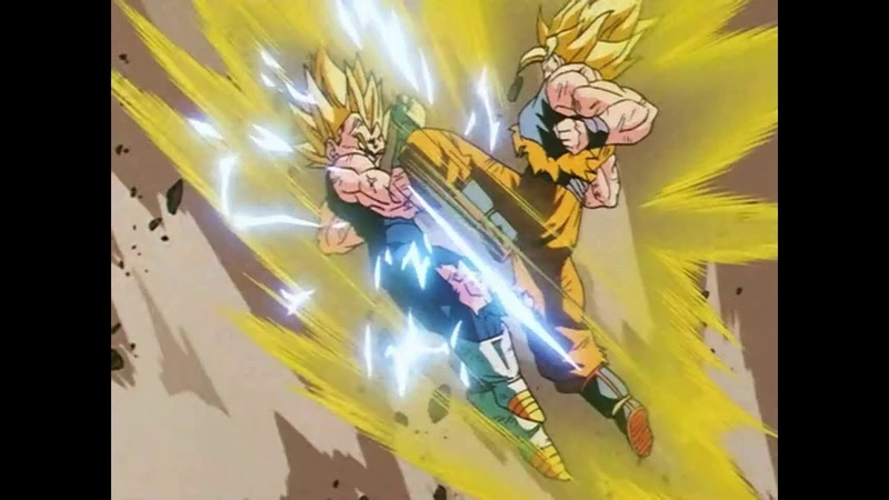 Majin Vegeta Fights Wildly Against Goku An Incomparable Battle Reaches its Climax Japanese