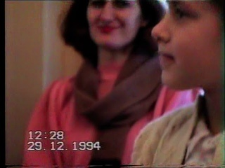 Детский Новогодний утренник в Курском драмтеатра 1995 г