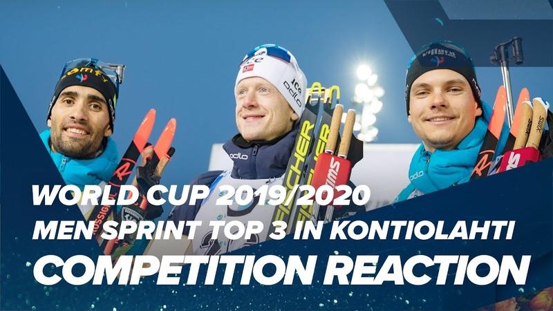 Kontiolahti Men Sprint top 3 Reactions