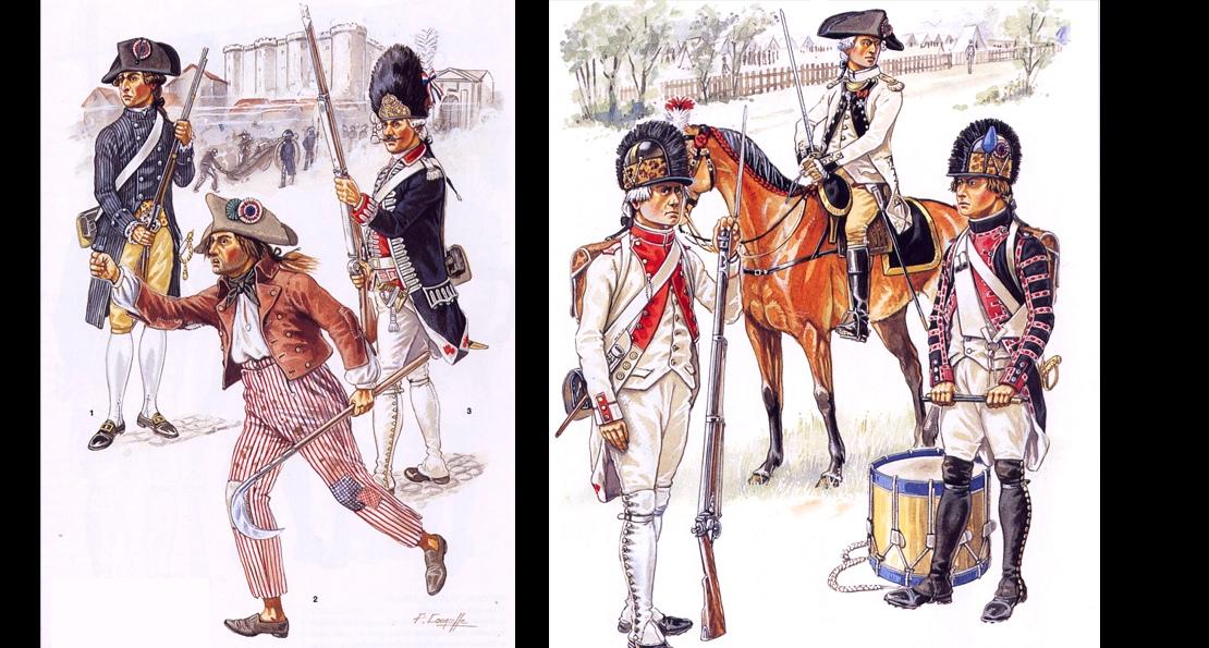 Солдаты армии Франции в 1789 году