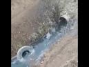 Вода в реке Ставрополья окрасилась в синий цвет