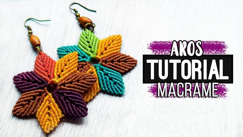 Aros Otoño 🍂 tutorial como hacer aros de hilo diy ● Earrings 173