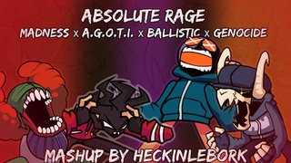 Absolute Rage [Madness x . x Ballistic x Genocide]|FnF Mashup by HeckinLeBork]