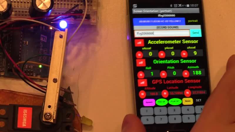 Arduino Shield Sensor Android Bluetooth App Inventor Servo 28BYJ 48 Stepper Moto