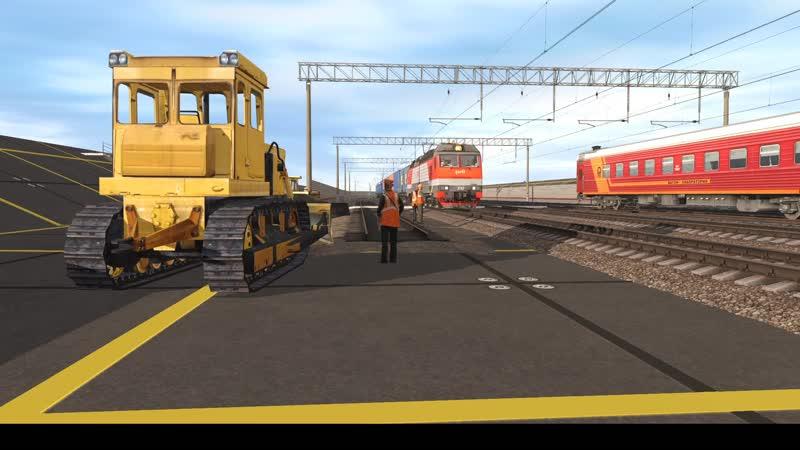 ЭП10 007 с контейнерным поездом №1025