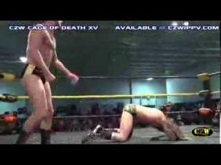 CZW: Drew Gulak vs. Chris Hero (Highlights from Cage of Death XV - )