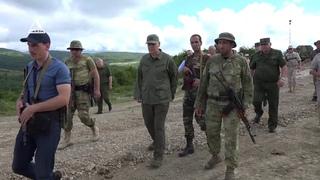 Совместное тактическое учение Министерства обороны Абхазии и российской военной базы в Республике