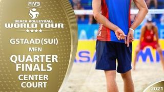 LIVE 🔴  Court 2   Men's Quarterfinals   4* Gstaad 2021