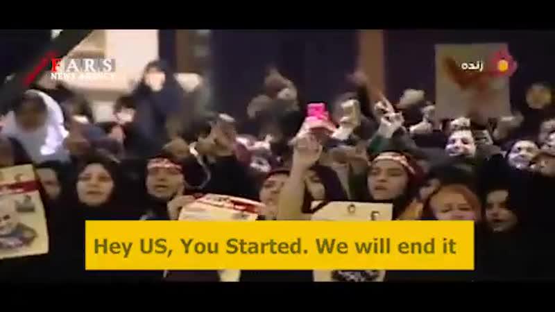 İranlılar ABŞ a ingilis dilində meydan oxudlar
