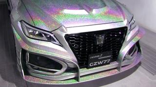 How to paint rainbow flakes on Luxury sedan / TOYOTA NEW CROWN【カスタムペイント】