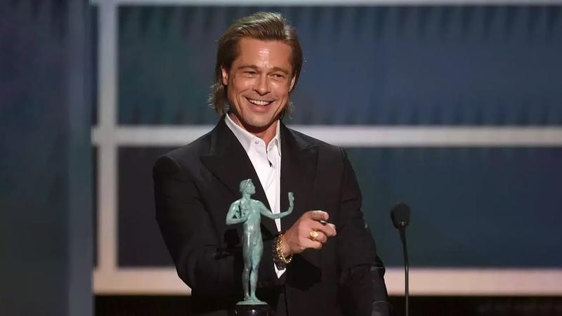 Брэд Питт: Победная речь на премии «Гильдии киноактеров» (Перевод, субтитры, 2020)