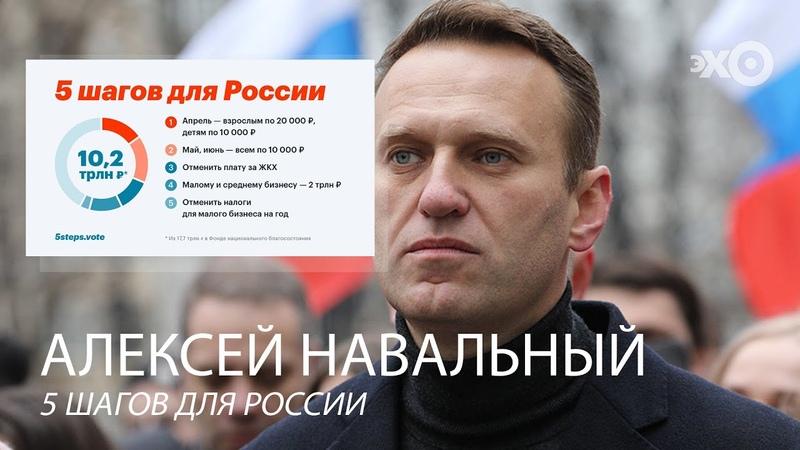 @Алексей Навальный о 5 шагах для России и рейтинге Путина 27 04 20
