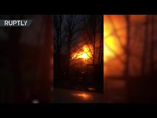 В Одинцове произошёл пожар в деревянной гостинице